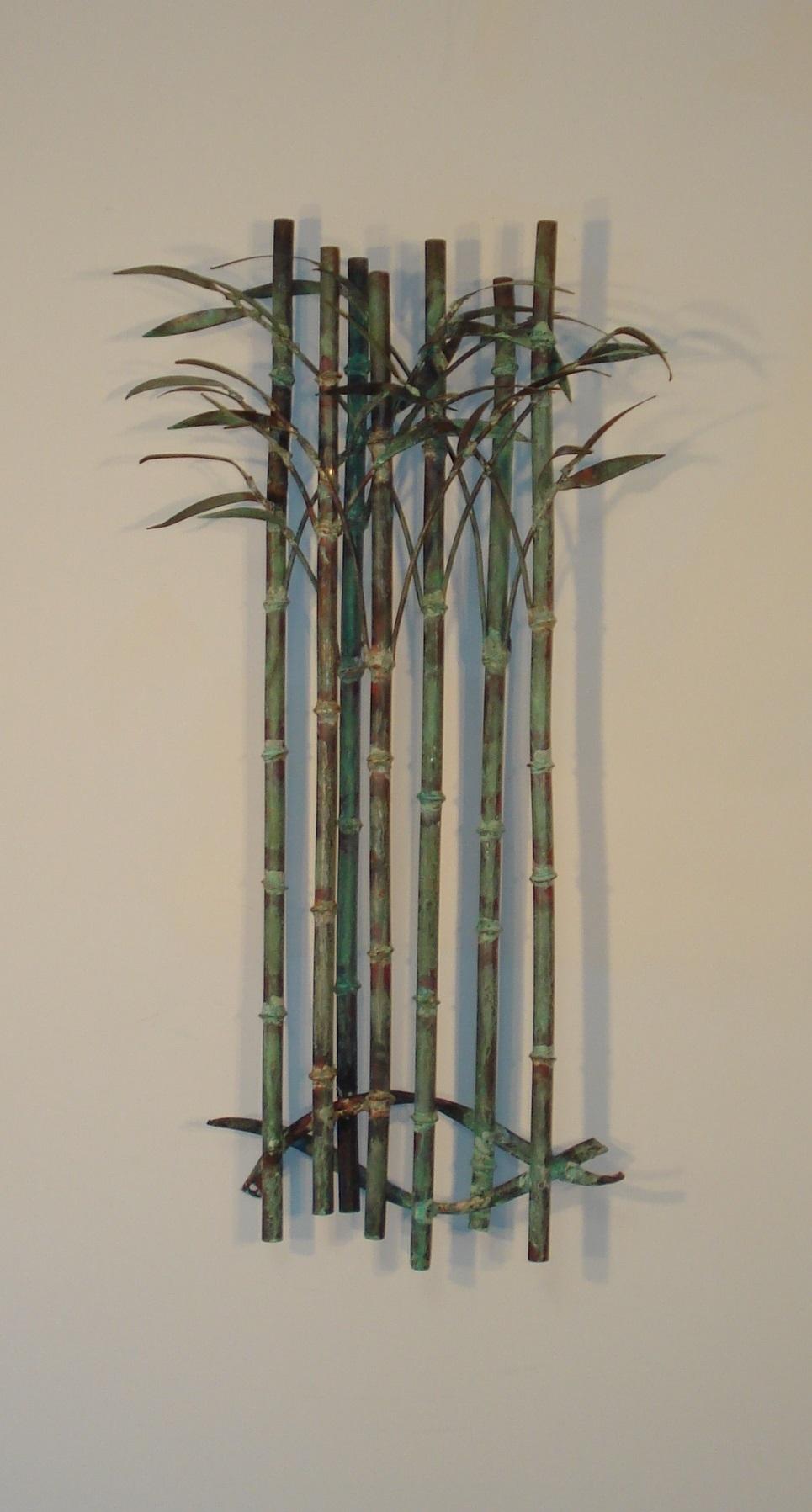 Outdoor metal wall art metal wall sculpture metal for Bamboo wall art