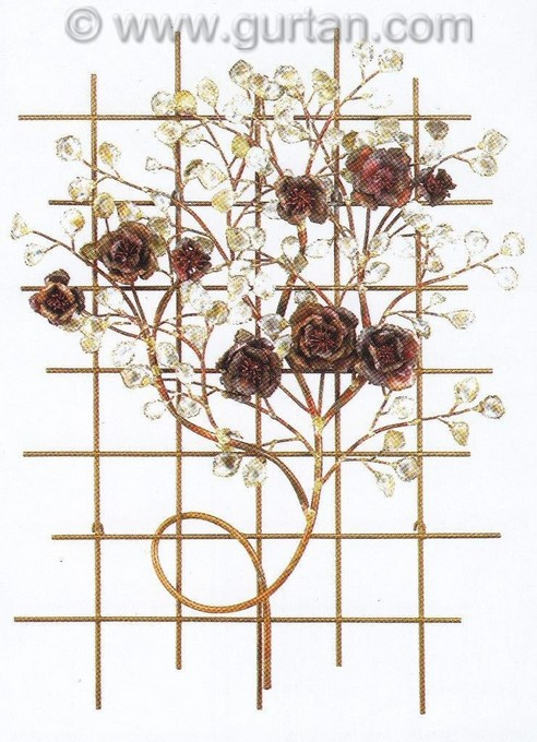 Italian Outdoor Wall Decor : Italian rose garden metal wall art