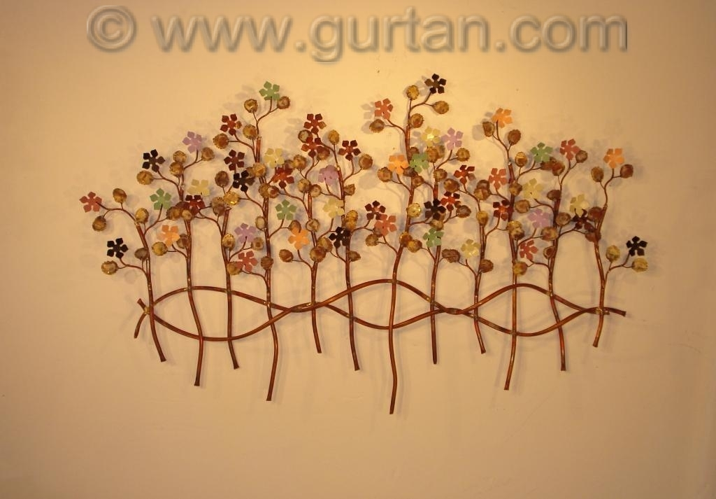Botanical metal wall art metal wall sculpture home decor - Sculpture wall decor ...