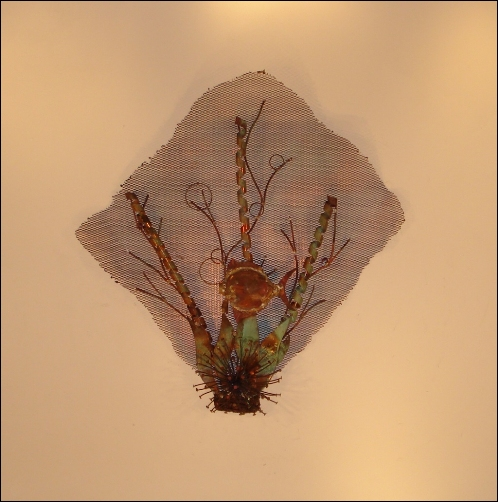 Sea Fan Wall Decor with sea weeds