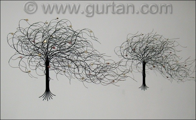 Custom September Tree Metal Wall Art Size Compared